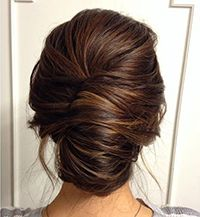 French Bun With Back Hair Roll