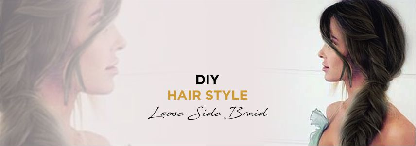 DIY Hairstyle - Loose Side Braid