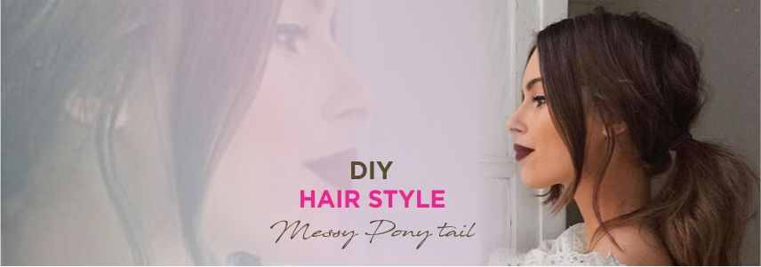 DIY Hairstyle: Messy Pony Tail